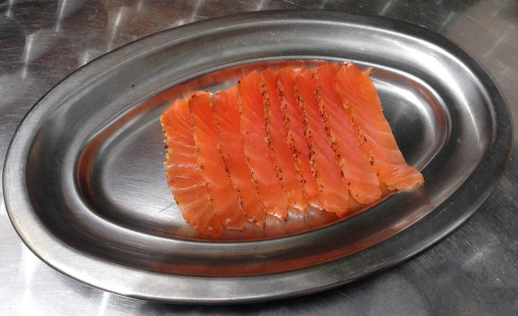 salmon ahumado al gintonic tocateca