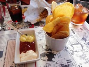 Patatas Bravas en el estilo del Bar Calders