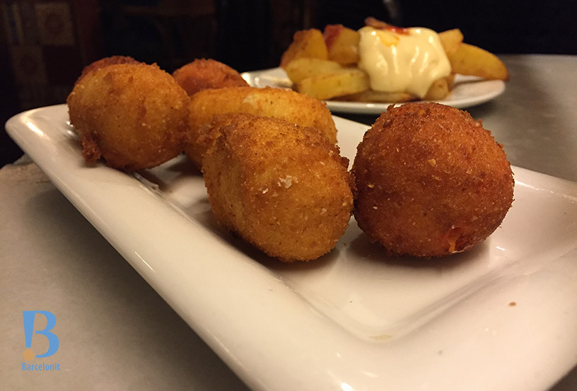 bar del pla cod and pepper croquettes